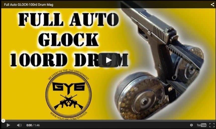 Pistola Glock 17 disparando en ráfaga ... BESTIAL!!