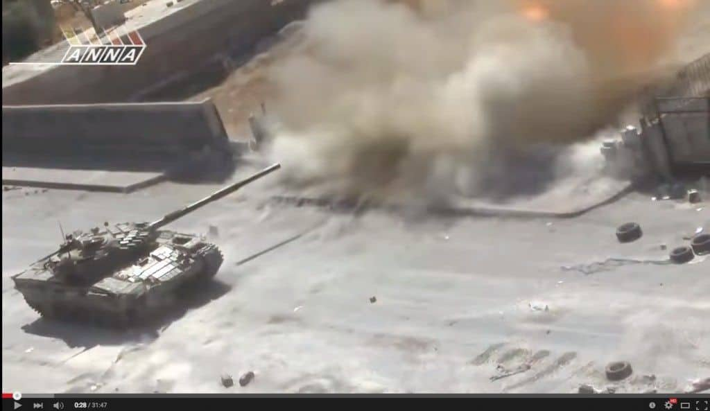 Impresionante batalla de tanques T-72